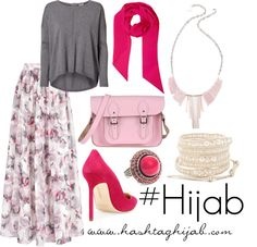 Hashtag Hijab Outfit : love the shades of pink