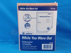 Adams While You Were Out Telephone Message Pad 12 Pack 600 Sheets Pink 9711D #Adams