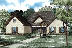 House Plan 82256 | Country   European   Traditional    Plan with 3456 Sq. Ft., 4 Bedrooms, 4 Bathrooms, 2 Car Garage