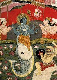 Matsya मत्स्य – Avatar of Hindu god Vishnu in form of a fish