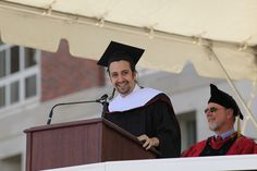 read later, my friend. The 183rd Commencement Ceremony took place on Andrus Field, with Honorary Doctorate of Humane Letters recipient Lin-Manuel Miranda '02 delivering the Commencement address on May 24. (Photo by Rick Ciaburri)