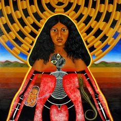 Hinetitama, by Maori Artist Robyn Kahukiwa Sacred Feminine, Divine Feminine, Polynesian People, Maori People, Maori Designs, New Zealand Art, Nz Art, Maori Art, Kiwiana