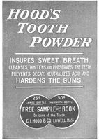 Hood's Tooth Powder 1899 Ad Picture