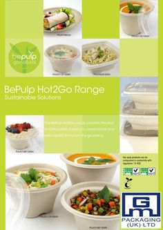 Our compostable products include containers, bowls, platters and pots are ideal for street food traders and caterers serving food-to-go options such as noodles, curries, pasta, burritos, salads, etc., the range offers many very practical options all of which can significantly reduce your carbon footprint.