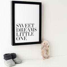 Sweet Dreams Monochrome Print