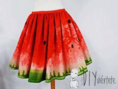 DIY-tintes iberia-teñir-rojo-verde-verano-fruta-sandía-estampado-melón-watermelon-falda-pepefalda-newlook-1