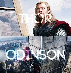 Thor Odinson, the god of Thunder, Heir to the throne of Asgard and the bearer of Mjolnir....he's so pretty...