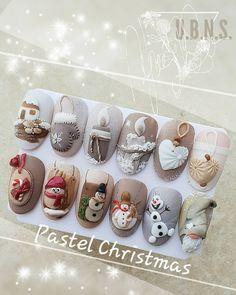 Christmas Nail Designs - My Cool Nail Designs Nail Art Noel, Xmas Nails, Winter Nail Art, Christmas Nail Art, 3d Nail Art, Holiday Nails, Winter Nails, Nail Art Designs, Winter Nail Designs