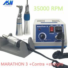 103.55$  Watch now - http://ali21a.worldwells.pw/go.php?t=32734992902 - 2017 NEW dental Lab micromotor polish handpiece with contra angle & straight handpiece SEAYANG MARATHON 3 + Electric Motor 103.55$
