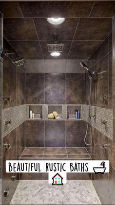 Bathroom Design Small, Bathroom Interior Design, Modern Bathroom, Cozy Bathroom, Minimal Bathroom, Rustic Bathroom Designs, Classic Bathroom, Modern Shower, Brown Bathroom