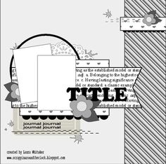 A fun two photo layout with lots of charming clustering. #scrapbooking #page_maps #layouts