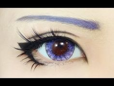 Anime eye makeup with doll contact lenses