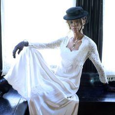 Vintage Empire Waist Bridal Gown by VintageBridalDesigns on Etsy, $650.00