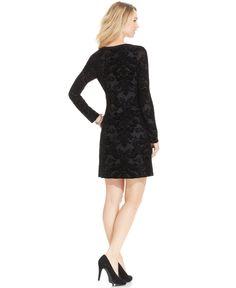Karen Kane Black Velvet A-Line Dress - Dresses - Women - Macy's #Karen_Kane #Fashion #Macys