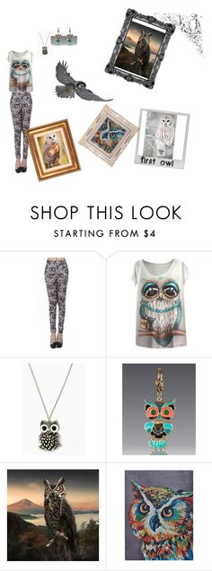 """""""Felling hooty today"""" by meyou-ii ❤ liked on Polyvore featuring Jay Strongwater, Freebird, Universal Lighting and Decor and Polaroid"""