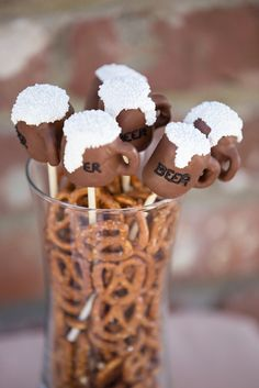 Cute cake pops at a Beer birthday party!  See more party ideas at CatchMyParty.com!  #partyideas #beer