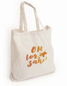 """New to DesignGenesStudio on Etsy: Mom gift cute eco tote bag """"Oh for fox sake"""" tote girlfriend gift Book lover gift animal print tote reusable tote shopping Tote Bag (17.50 USD)"""