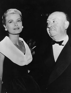 Grace Kelly & Alfred Hitchcock by Advertising Hitchcock, via Flickr