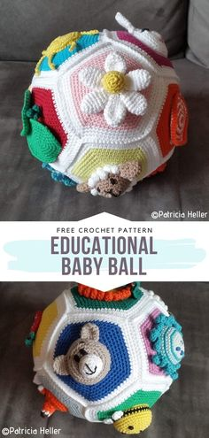 How to Crochet Educational Baby Ball How to Crochet Educational Baby Ball,Crochet for Kids Educational Baby Ball Free Crochet Pattern Let your baby learn and play with this lovely crochet ball. Crochet Ball, Crochet Baby Toys, Crochet For Kids, Knit Crochet, Crochet Animals, Free Crochet Pattern Animals, Crochet Dolls Free Patterns, Love Crochet, Amigurumi Patterns