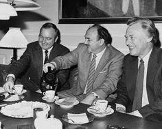 Tre af 1970ernes og 1980ernes mest fremtrædende danske politikere, Venstres Henning Christophersen, Socialdemokratiets Anker Jørgensen og de konservatives Poul Schlüter