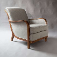 Pair of Swedish Art Deco Lounge Chairs by Wilhelm Knoll, Malmo 1933 | From a unique collection of antique and modern lounge chairs at http://www.1stdibs.com/furniture/seating/lounge-chairs/