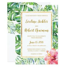 Shop Tropical Beach Bridal Shower Invitation created by DIVart. Personalize it with photos & text or purchase as is! Destination Wedding Invitations, Wedding Invitation Cards, Bridal Shower Invitations, Destination Weddings, Invitation Ideas, Wedding Destinations, Themed Weddings, Invitation Wording, Invitation Templates