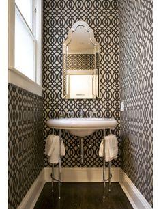 84 best bathroom wallpaper images tiles bathroom home decor rh pinterest com
