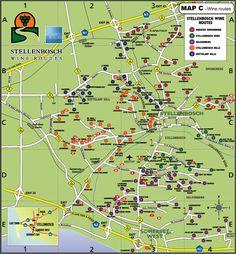 Image result for map of stellenbosch vineyards