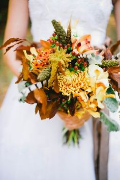 Autumn Inspired November Bouquet See more here: http://cedarwoodweddings.com/2015/02/november-grand-intimate-caitlynneil/