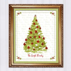 Personalized Christmas Gift, Custom Christmas Tree, Gift for Mom, Gift for Grandma, Gift For Grandparents, Last Minute Printable Gift by InvitingMoments on Etsy https://www.etsy.com/listing/212497484/personalized-christmas-gift-custom