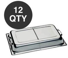 WHOLESALE CHAFER CHAFING DISH HINGED DOME COVER - 12 QTY by overstockedkitchen. $492.95. Price reflects 12 units. Full size hinged dome cover. Fits our 8 quart continental chafing dishes. These covers fit the full size continental chafers.