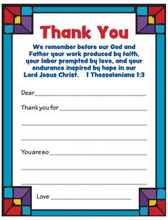 Free Printable - Pastor Appreciation Cards! Encourage your sponsored child to thank their pastor and the other volunteers at their child development center.