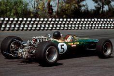 "James ""Jim"" Clark (GBR) (Team Lotus), Lotus 49 - Ford Cosworth DFV V8 (finished 1st)  1967 Mexican Grand Prix, Autódromo Hermanos Rodríguez..."