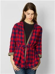 ace&jig fall13 reversible robe in houndstooth / military at Couverture and The Garbstore