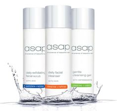 Revitalise your skin with asap's new look daily exfoliating facial scrub, daily facial cleanser and gentle cleansing gel. Now packaged in shower friendly soft, squeezable bottles with press down security caps. 100% Paraben, SLS and synthetic fragrance free.