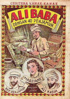 Indonesian vintage comic book cover.