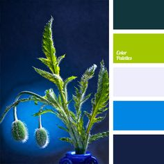 "It is best to dilute rich dark blue colour with bright blue, because this combination is harmonious of itself. And to create additional ""colour hue"" take d."