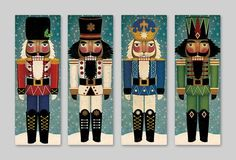 The Nutcracker! Ready-to-hang wall art canvas panel. This listing is for one 10x30x1.5 Nutcracker canvas. Choose your color from the drop down