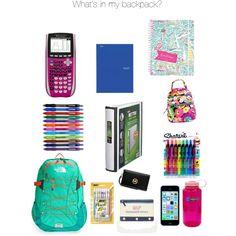 What's in my backpack? by kaitstonehill on Polyvore featuring polyvore, fashion, style, MICHAEL Michael Kors, The North Face, Vera Bradley, Nalgene and Lilly Pulitzer