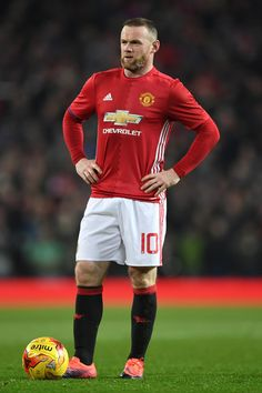 Wayne Rooney of Manchester United looks on during the EFL Cup quarter final match between Manchester United and West Ham United at Old Trafford on November 30, 2016 in Manchester, England.