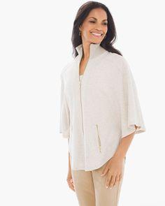 Chico's Women's Zenergy Tinah Poncho Jacket