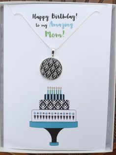 Mom's deserve a special Birthday Card...this one has an adorable matching necklace.  Explore all our Birthday Cards on Etsy. Special Birthday Cards, Happy Birthday Greeting Card, Tribal Necklace, Necklace Set, Mom Birthday, Birthday Wishes, Matching Necklaces, Amazing, Silver