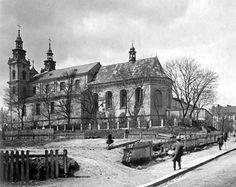 Площа, біля Костелу Марії Магдалини, придбана українською громадою під будівлю театру. Фото 1930-1939 рр.