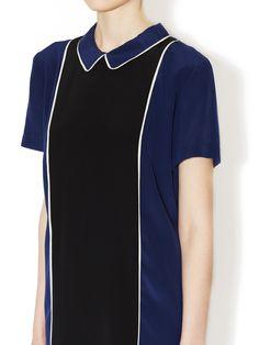 Silk Colorblocked Shirtdress by Sea at Gilt
