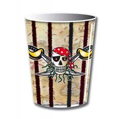 Rode Piraat  piraten bekers - 8 stuks.