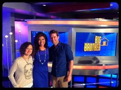 From outside the Big Brother House I'm Julie Chen...with my friends @thesaragilbert and @Matt_Morrison #BB15