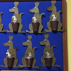 paper cup kangaroo craft Basteln nach Monat - Make Up Paper Cup Crafts, Cat Crafts, Animal Crafts, Australia Crafts, Australia Day, Toddler Crafts, Crafts For Kids, Kangaroo Craft, Cultural Crafts