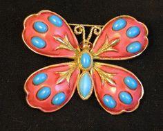 Rare HAR Enamel Butterfly