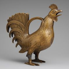 Aquamanile in the Form of a Cock, 13th centuryGerman (Lower Saxony)Copper alloy  via met