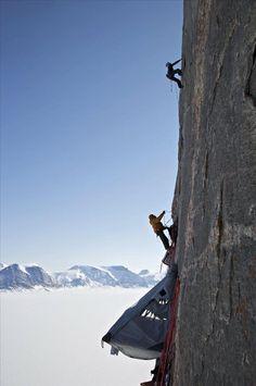 Climbing big walls in Alaska.